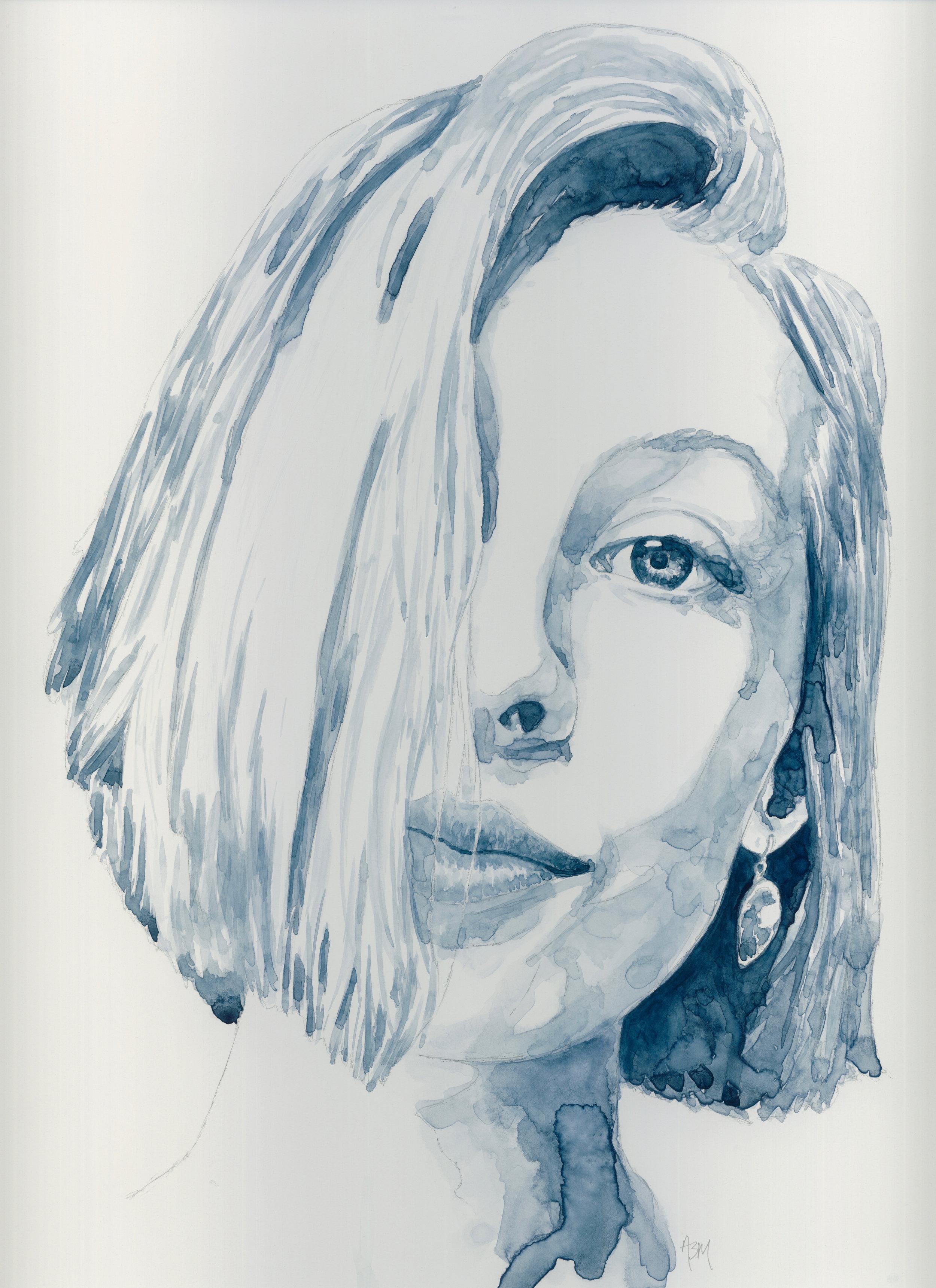 Alicia - Watercolor on Clayboard