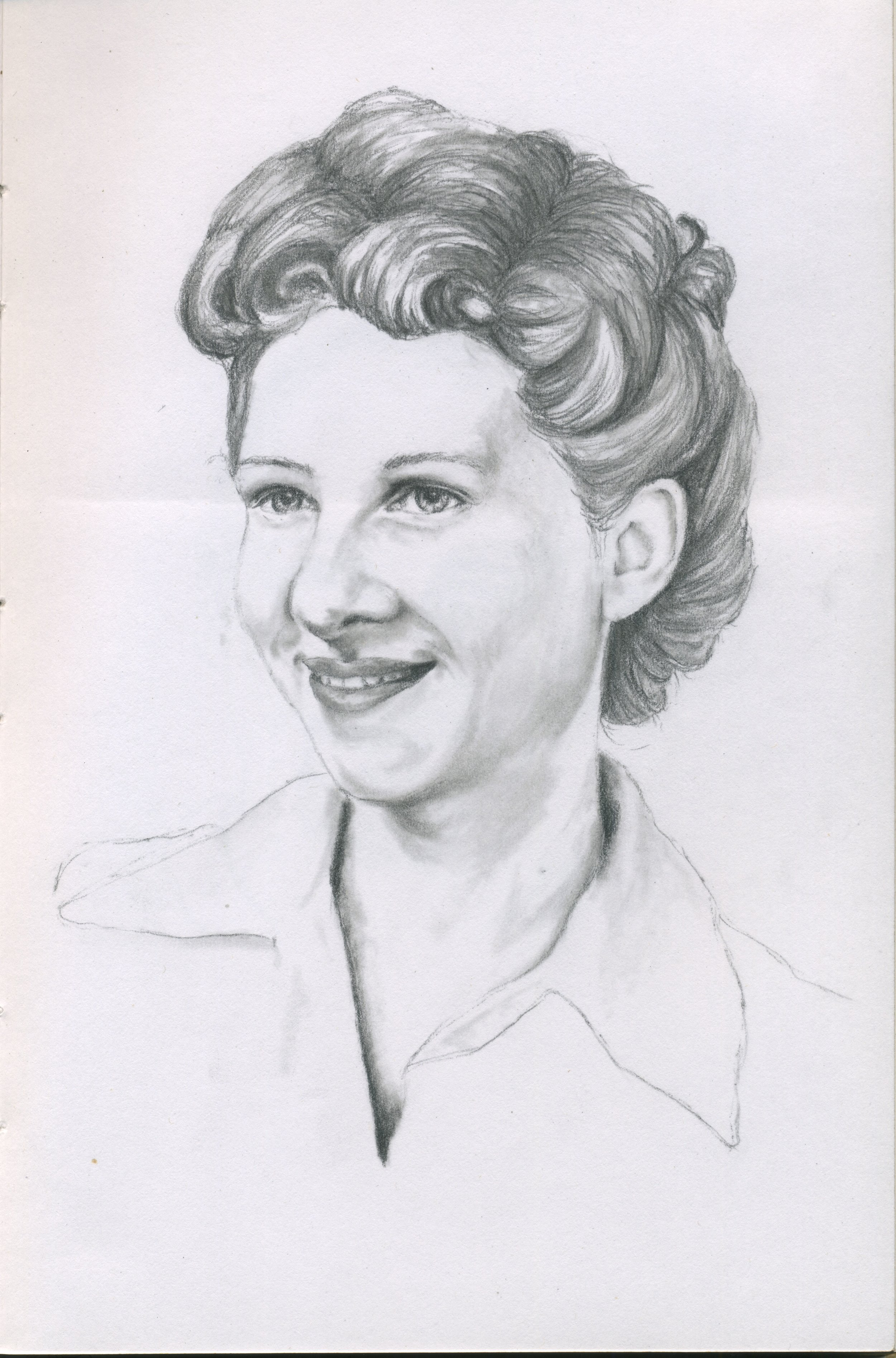 Young Ruth - Graphite on Paper