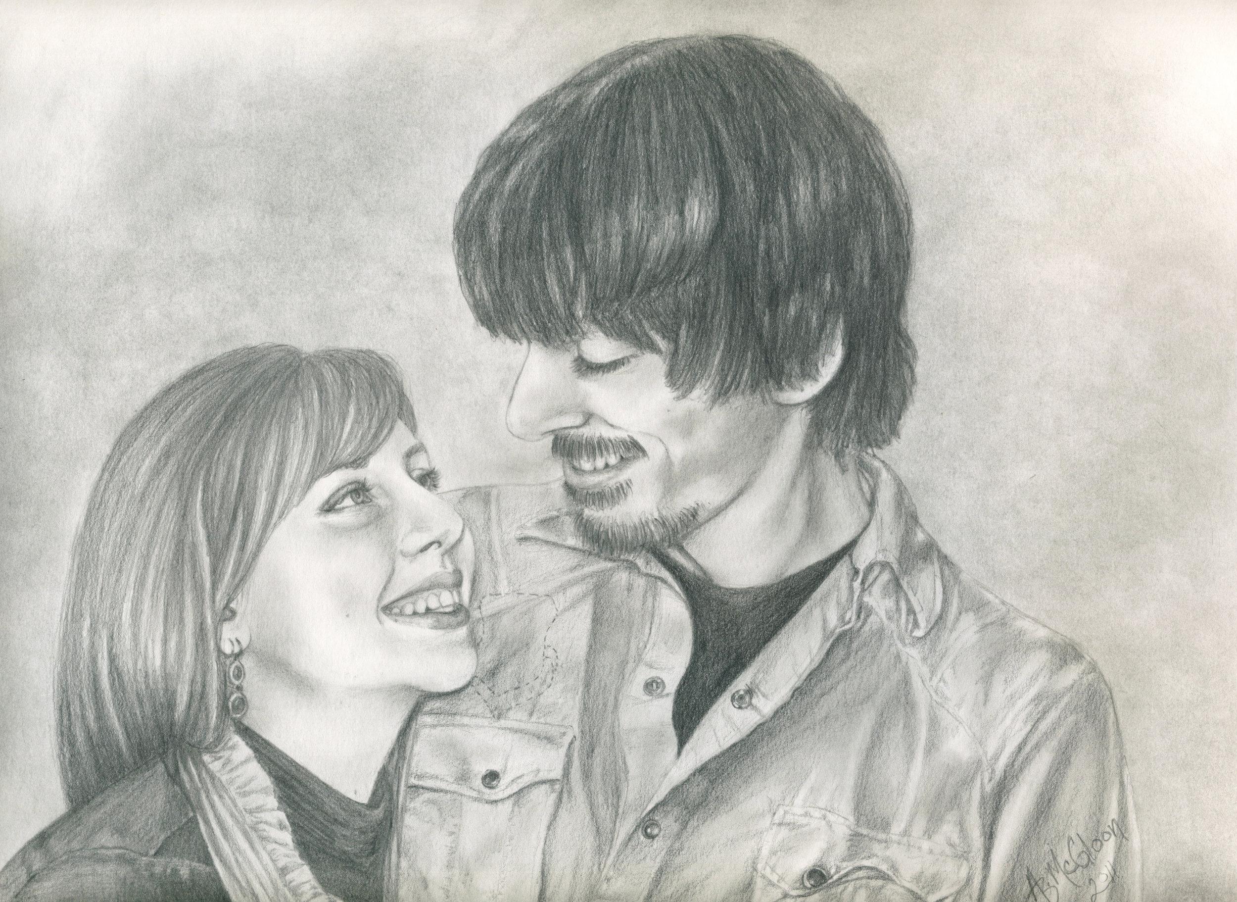 Alicia & Ryan - Graphite on Paper