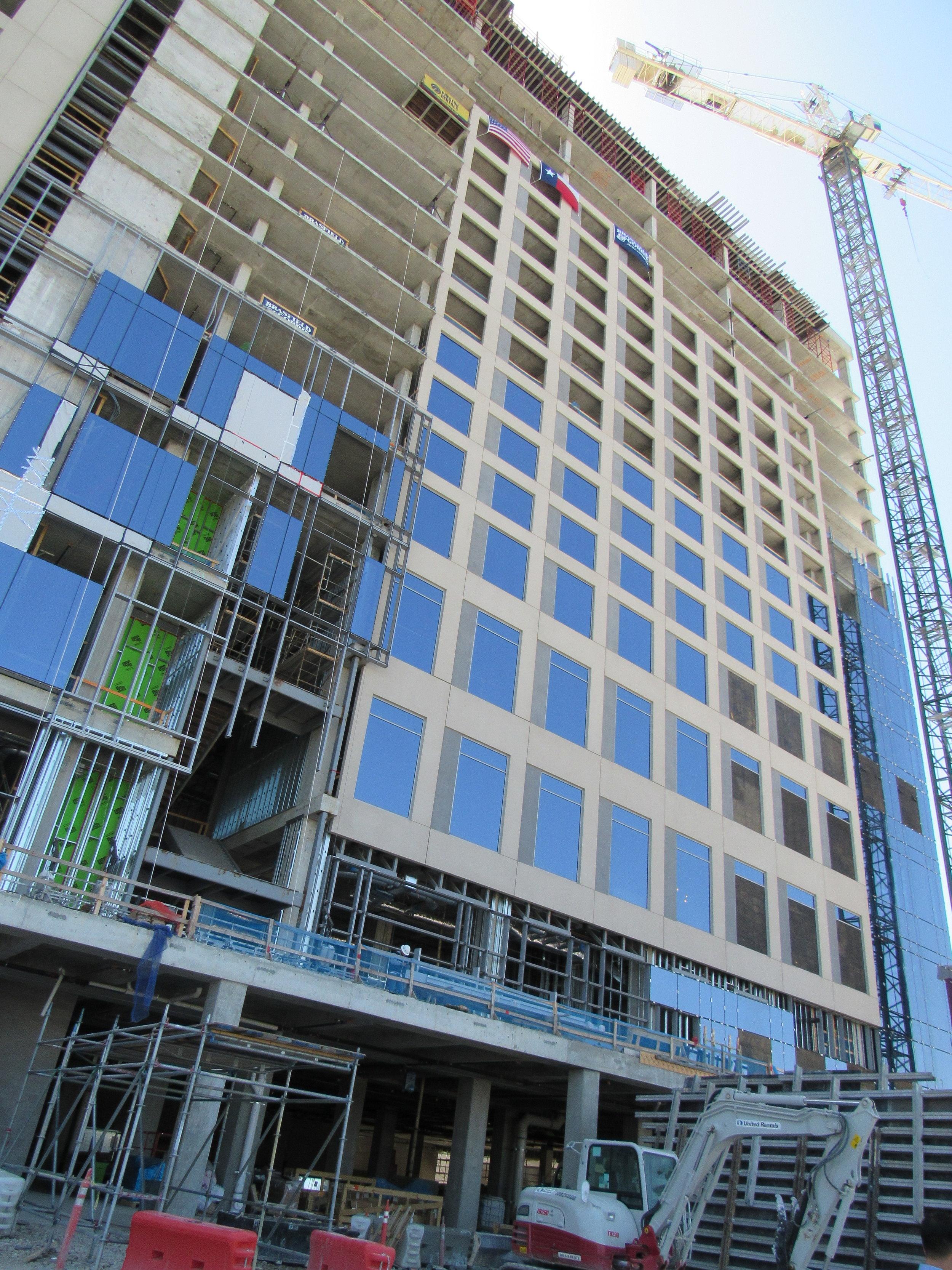 Hyatt Regency Stonebriar at Frisco under construction.jpg