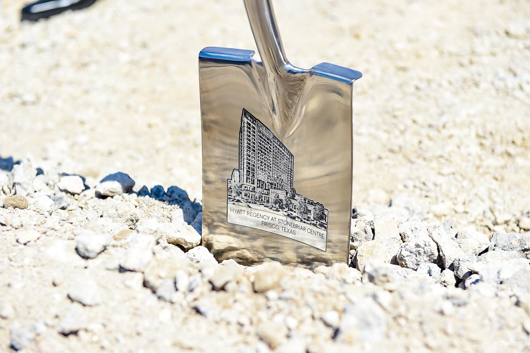 Hyatt Regency Stonebriar in Frisco groundbreaking shovel.jpg