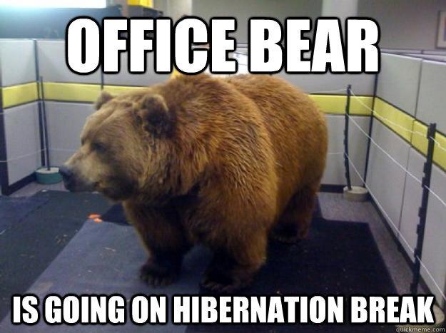 I'm with you, fella … Meme courtesy http://www.scumbear.com/2013/06/office-bear-is-going-on-hibernation.html