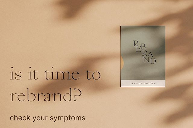 THIS IS FOR YOU IF: ✨You aren't sure if it's the right time to rebrand ✨You feel disconnected from your current branding identity ✨You're wondering where your business is going ✨You want a pretty logo but are unsure if you want to invest  I created this freebie for you. It's just like WebMD symptom checker but better! Download the symptom checker with the link in my bio and take the test. You'll find out whether it's time to rebrand or not, and next steps either way.  Come back here when you're done and let me know your score!  #branding #rebrand #rebranding #symptomchecker #brandingdesigner