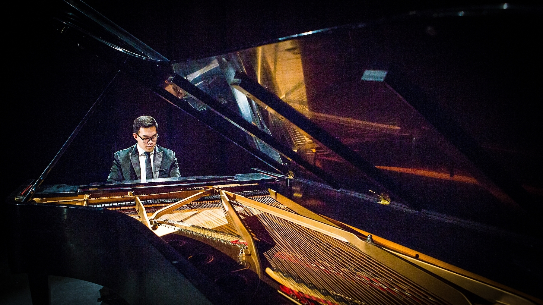 Performing on the legendary piano owned by Vladimir Horowitz.
