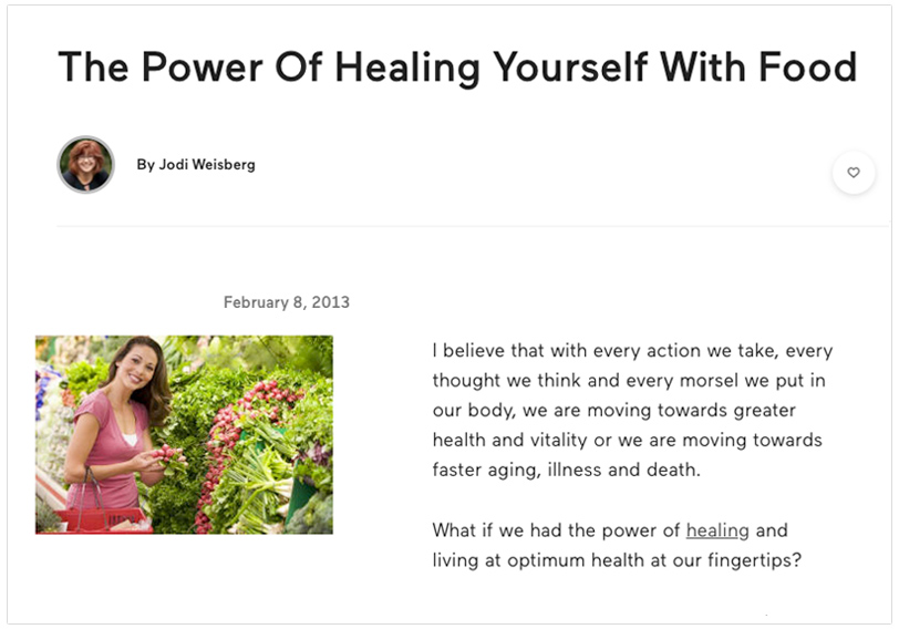 power of healing yourself with food