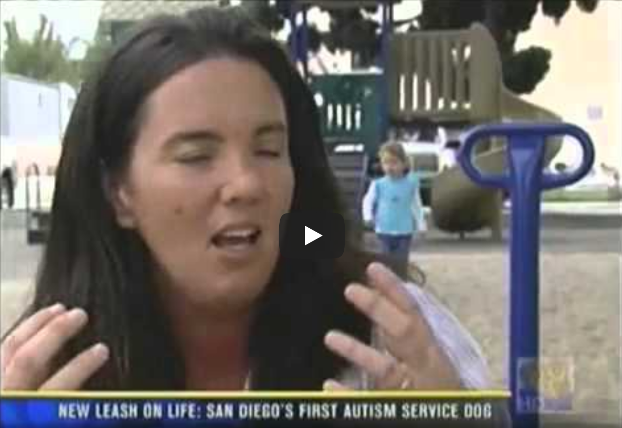 Leash On Life Assistance Dog Program for Children with Disabilities KFMB Channel 8 News
