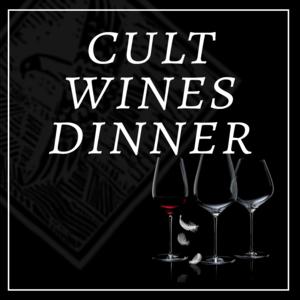 Cult Wines Dinner    Pasadena, CA   September 20, 2018