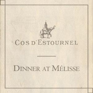 Cos d'estournel Dinner Melisse June 8, 2017