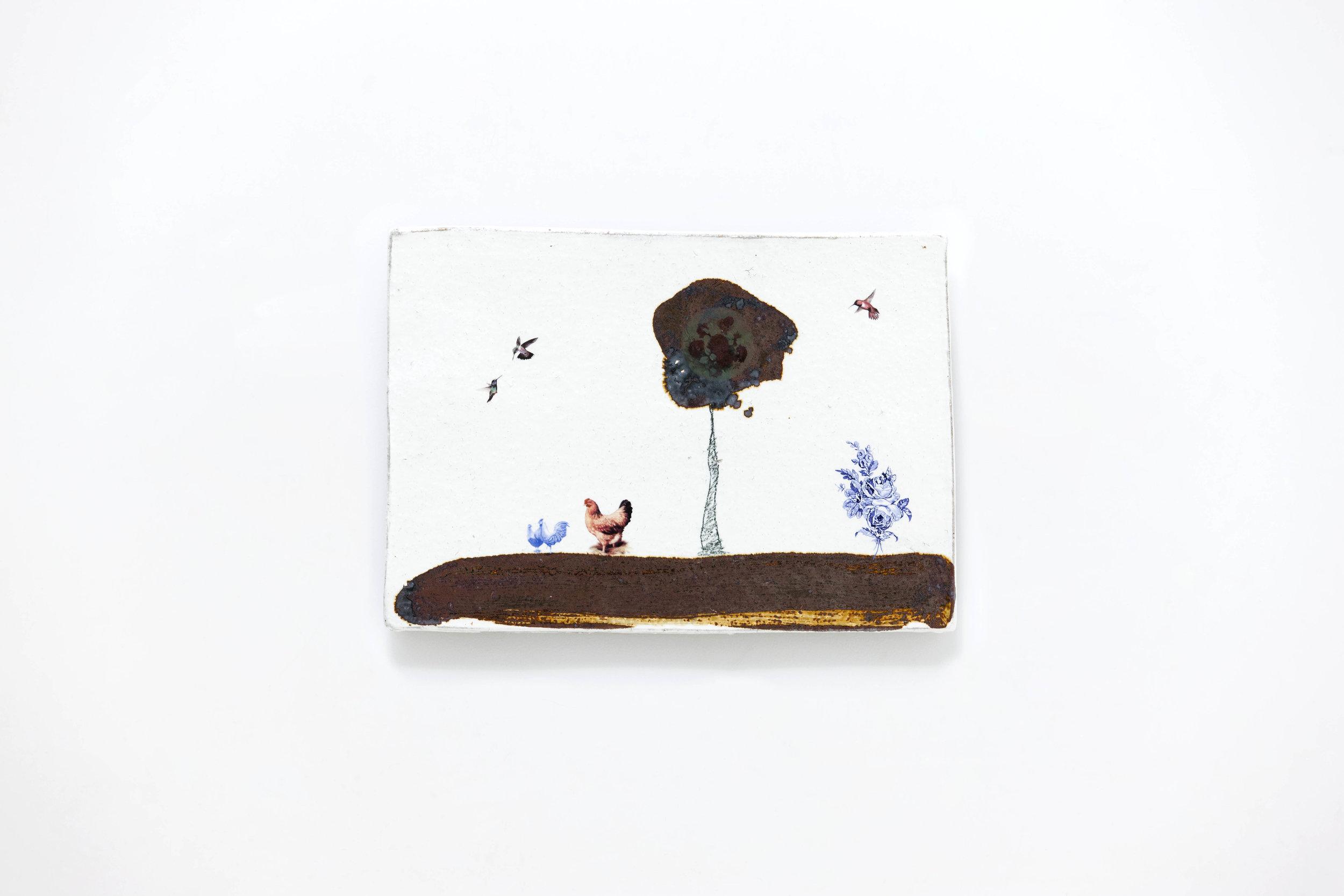 LEE Hun Chung,Bada 151110-20,Glazed Ceramic,38W x 1D x 27H cm,14.96W x 0.39D x 10.63H inch ,2015.jpg