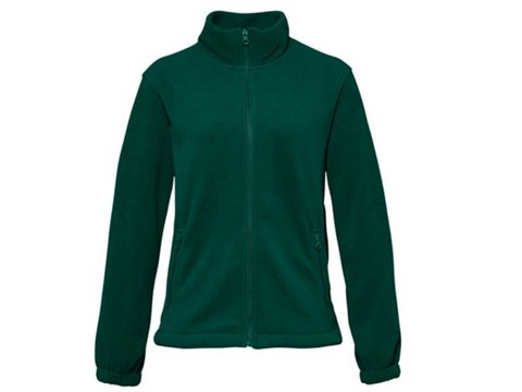 bottle green full zip fleece