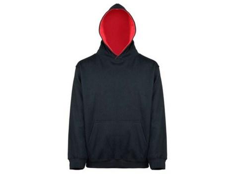 awdis Black & Red Pullover Hoodie