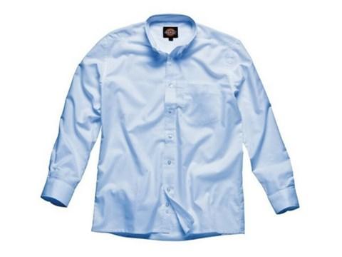Dickies Men's Long Sleeve Blue Shirt