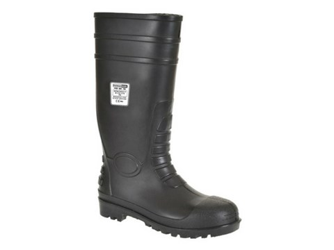 Tall Black Rubber Wellington Boots