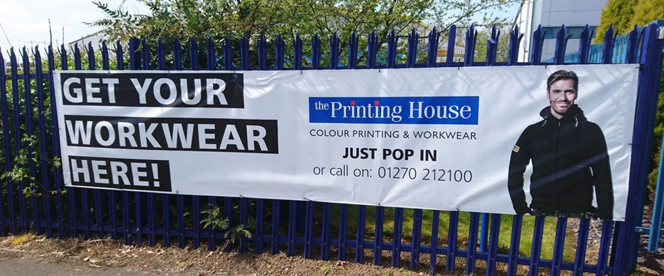 Embroided Workwear Banner Call 01270 212100