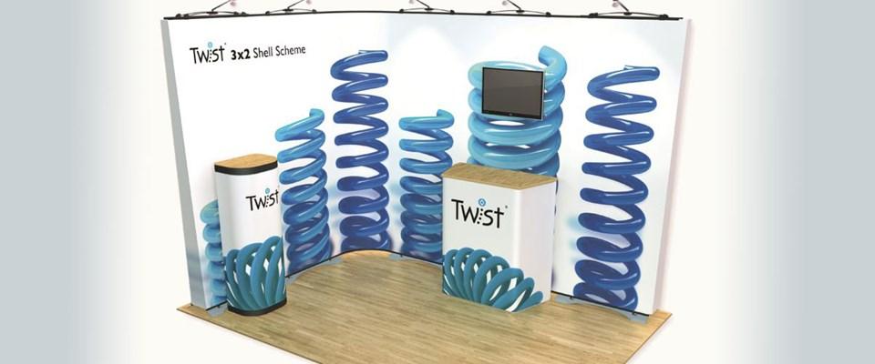 Twist Exhibtion Banner Stand