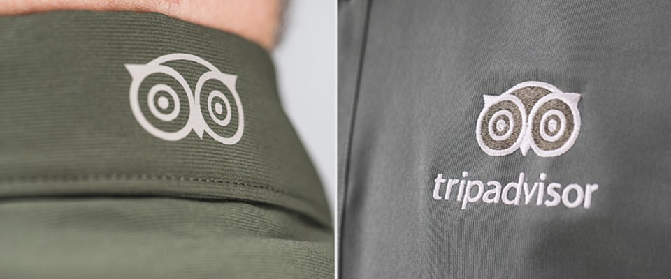 Left - Printed Logo via DTG (Direct to Garment) Right - Embroided Logo