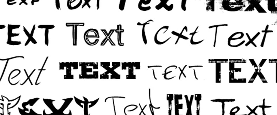 A Multiple selection of Fonts & Typography
