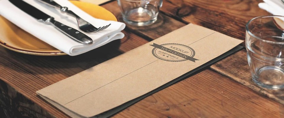 Designer Food Menu Printed on Craft Board