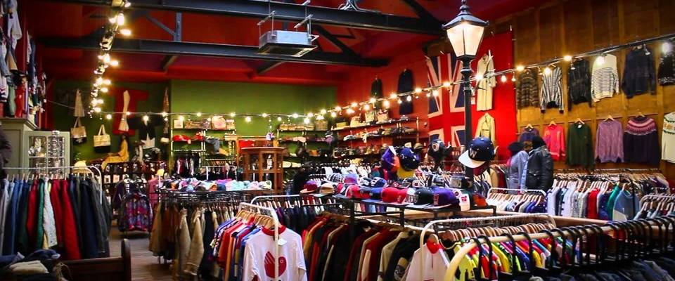 Inside of A Cheshire Vintage Clothes Shop