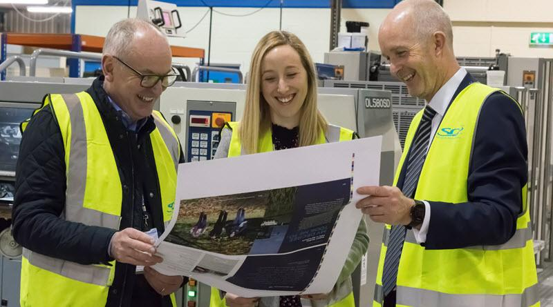 eter Harrison (The Printing House), along with Keith Swift & Liz Green (Reaseheath College) press passing their new prospectus