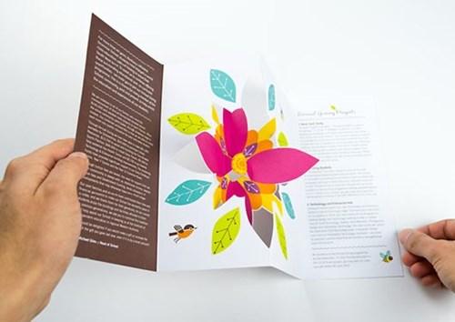 Die Cut Brochure to resemble a flower