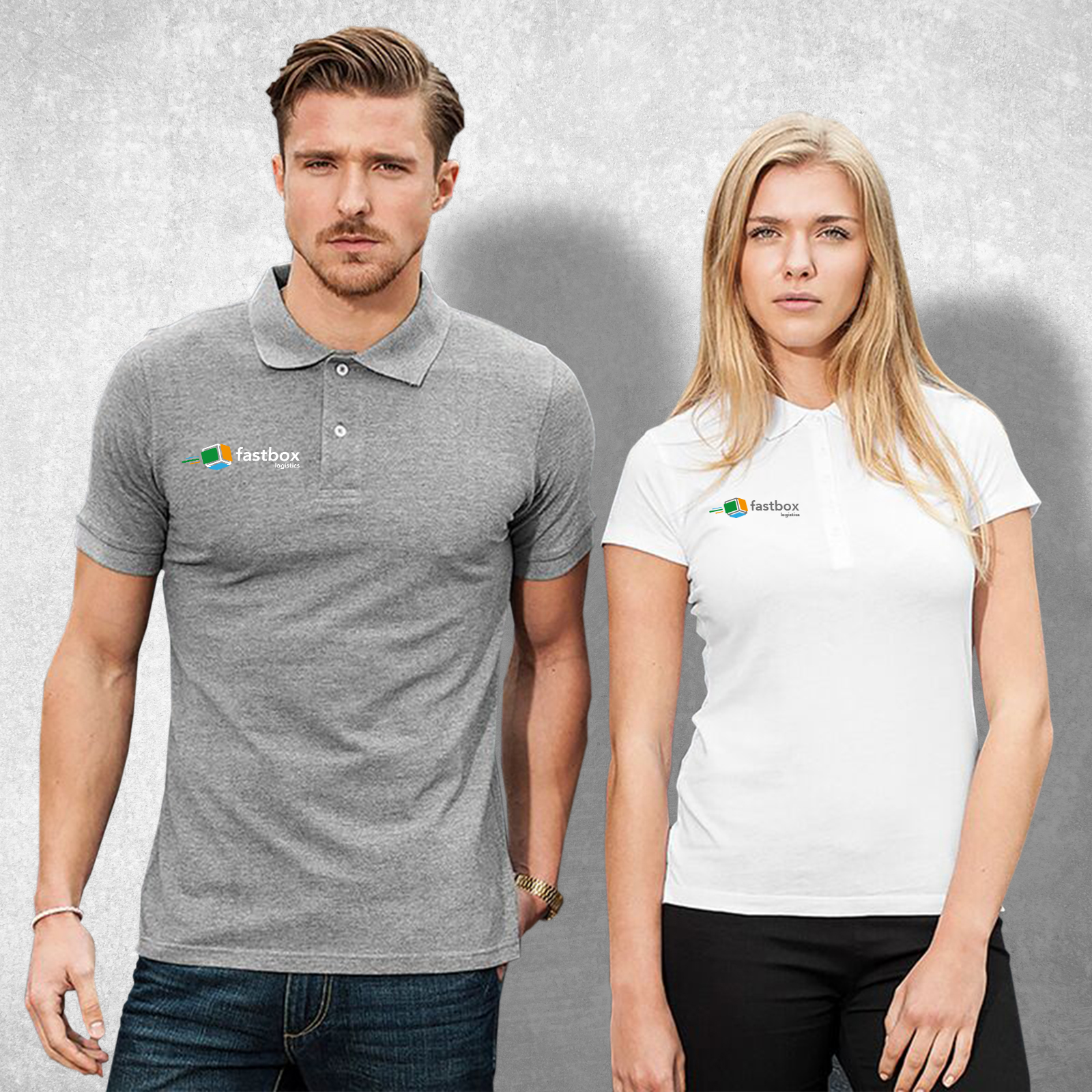 Man And Woman wearing embroided Workwear