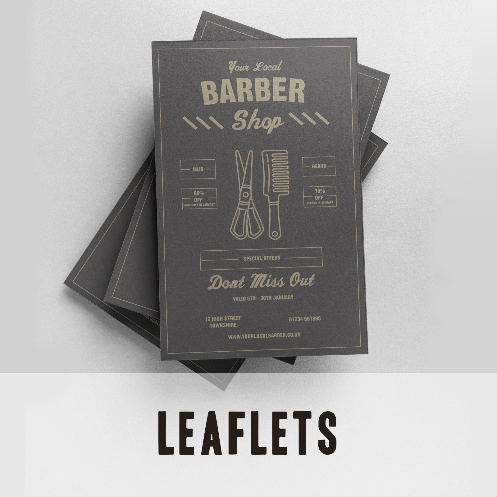 Leaflets - Barber Shops leaflet