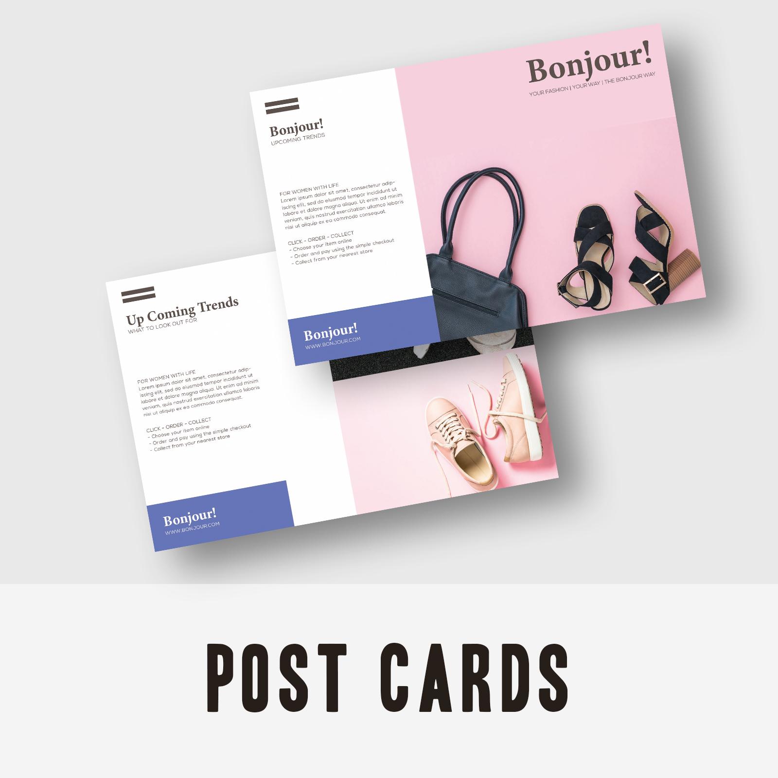 Postcards - Bonjour Clothing & Accessories