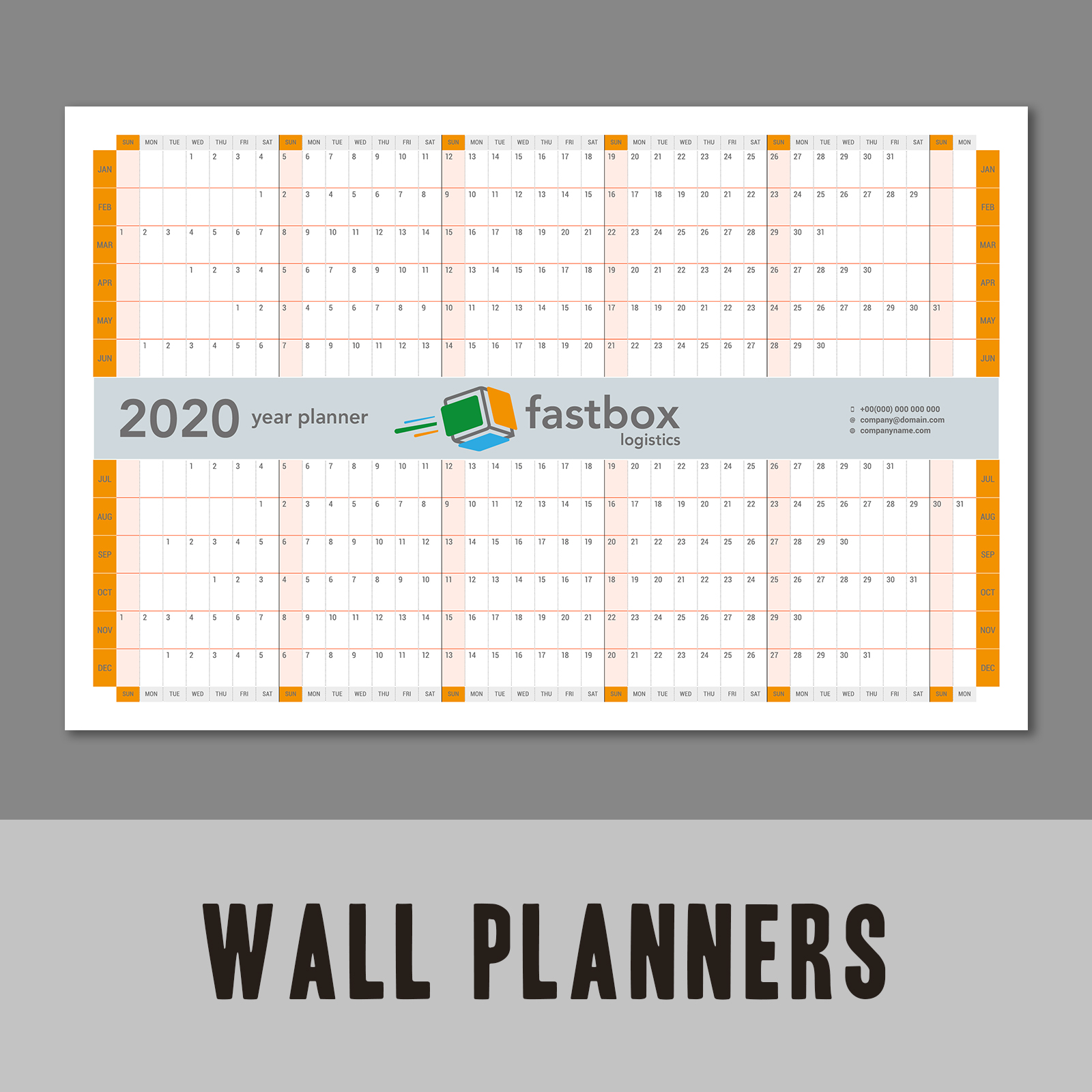 Wall Planners - Fastbox logistics