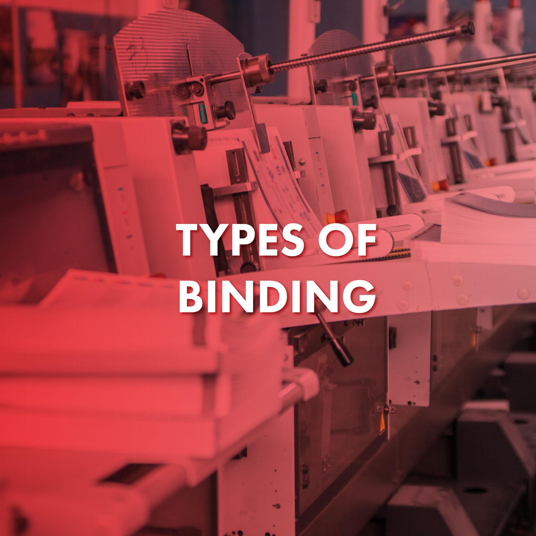 Types of Binding - Stitching Machine