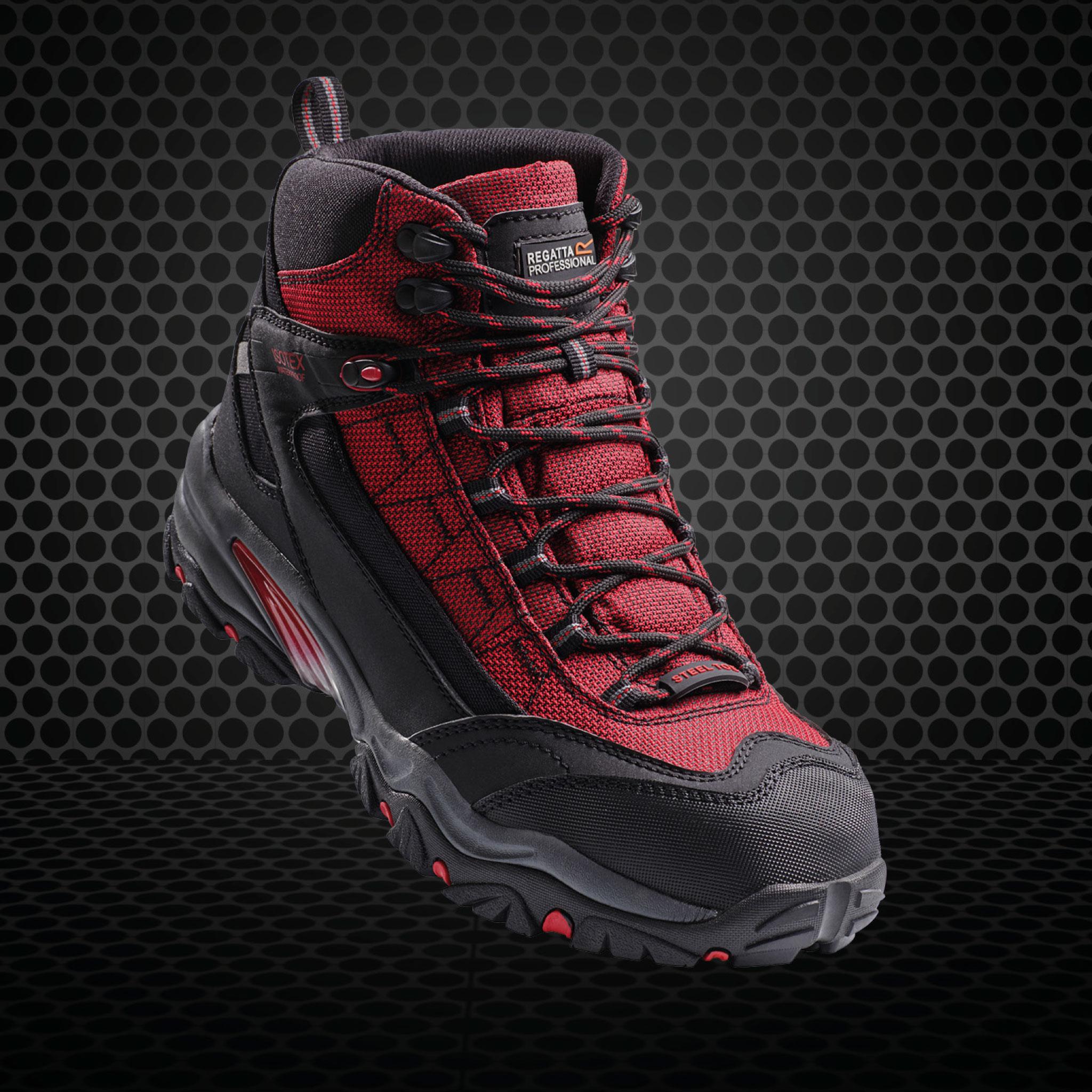 Footwear - Red Steel Toe Cap Boots