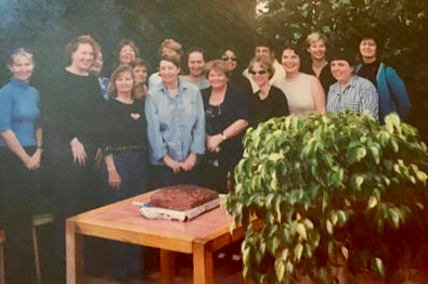 Jude celebrating the announcement of her OAM honour with the QENDO committee of 2001 and past committee,