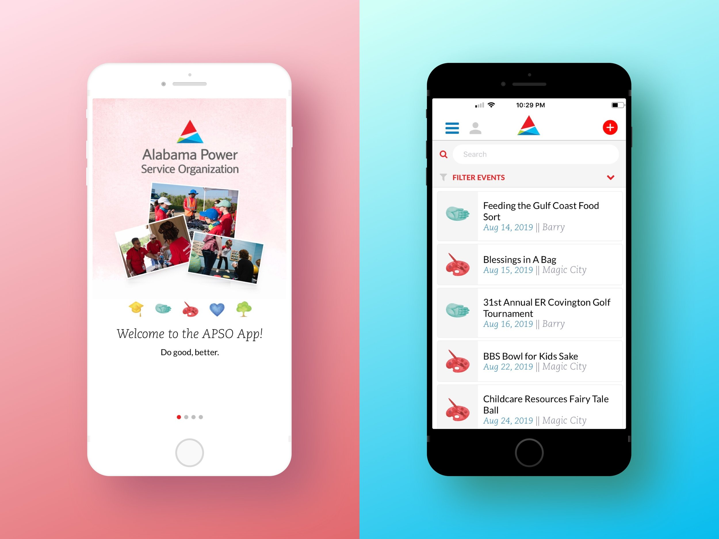 Alabama Power Service Organization App - Enables Alabama Power volunteers to gain insight into new ways to help others.Laravel, React Native, Product Management