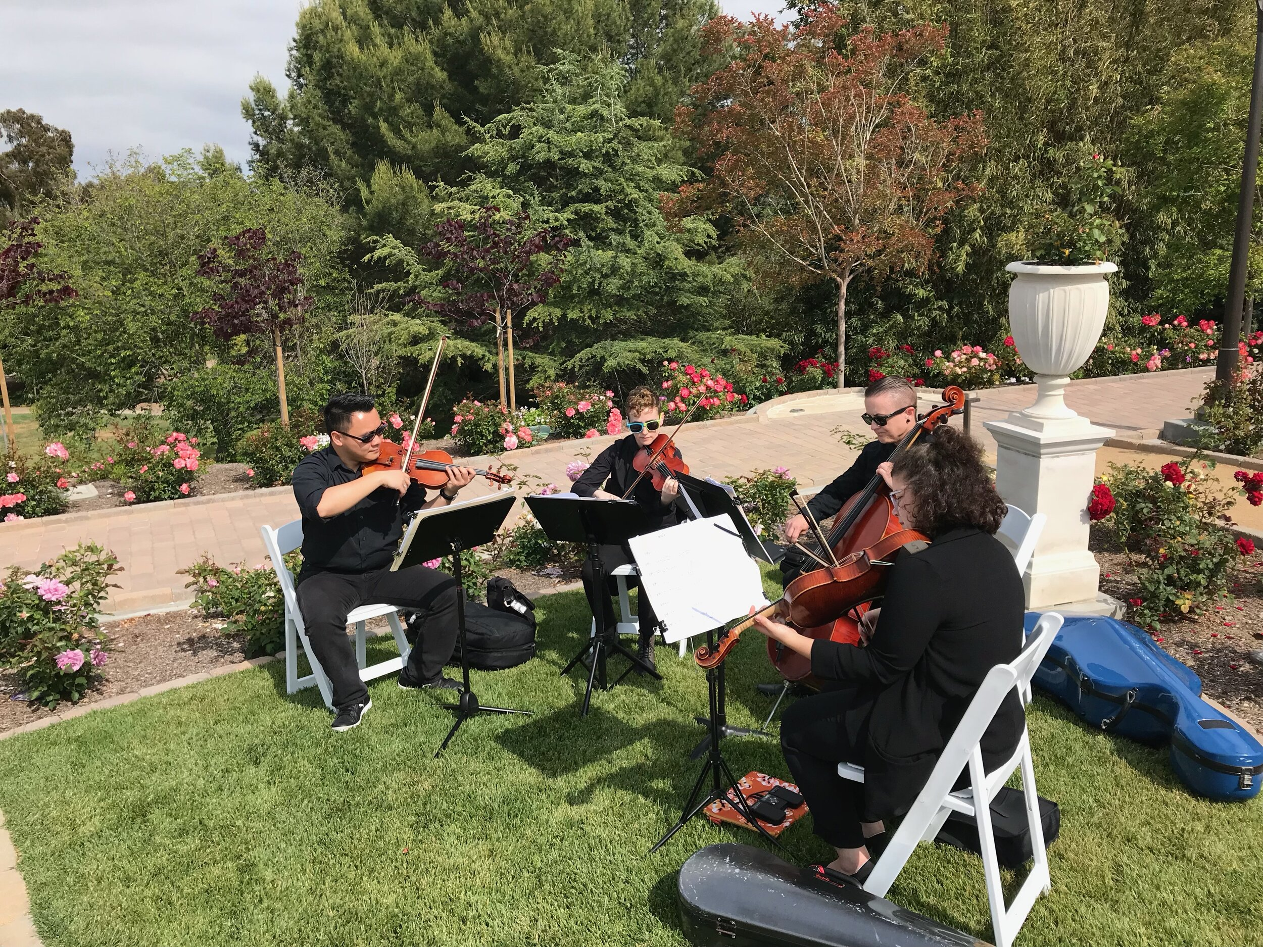 JR's string quartet playing the processional music
