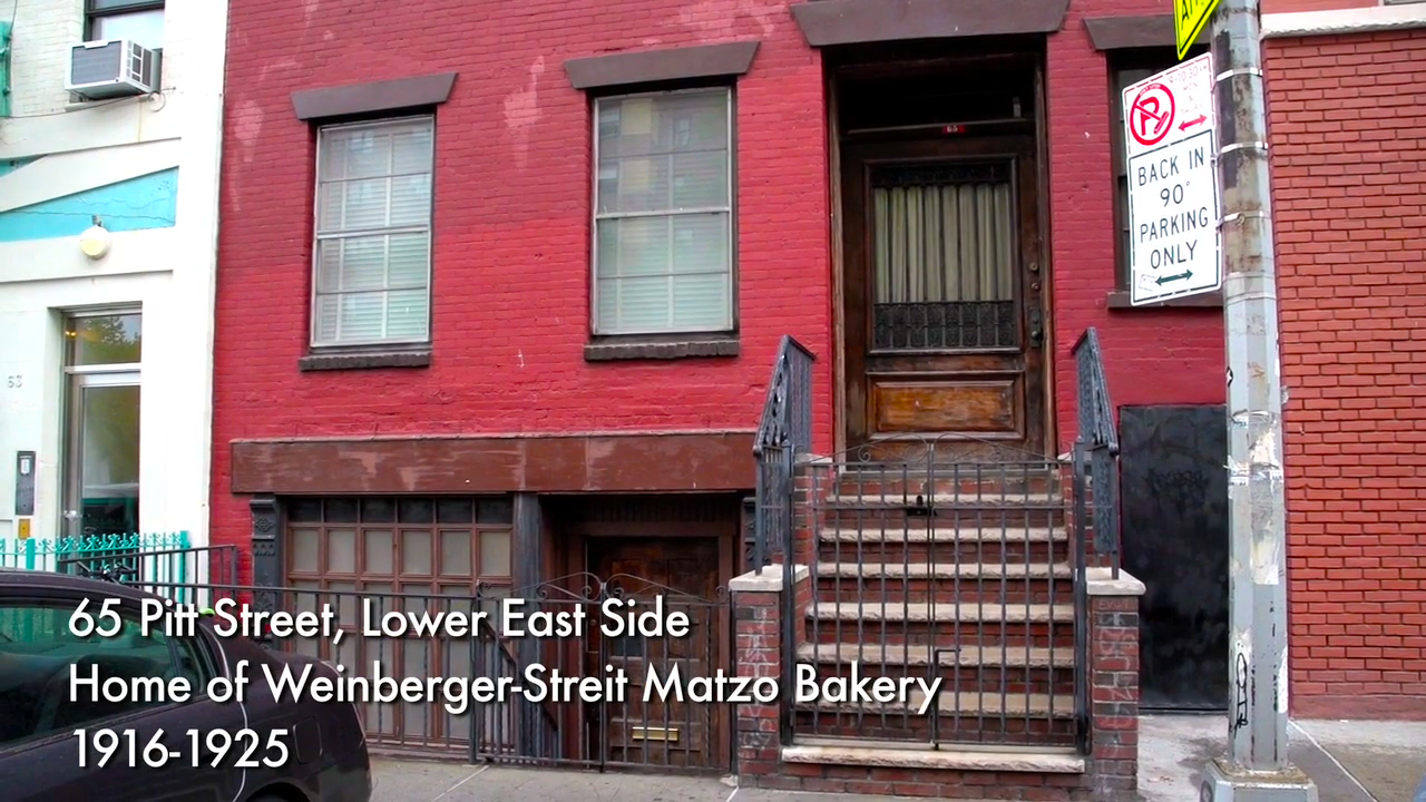 Below was the door to Streit's Matzo bakery 1916-1925 in the thriving Jewish neighborhood. Above is the door to the first floor of the home. We'll sing on the 2nd floor. Climb the stairs, enter the more formal upper door and come on up.