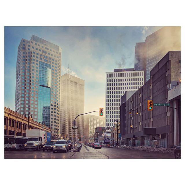 Winnipeg Morning. #Canada #home #Manitoba #street #downtown #exchangedistrict