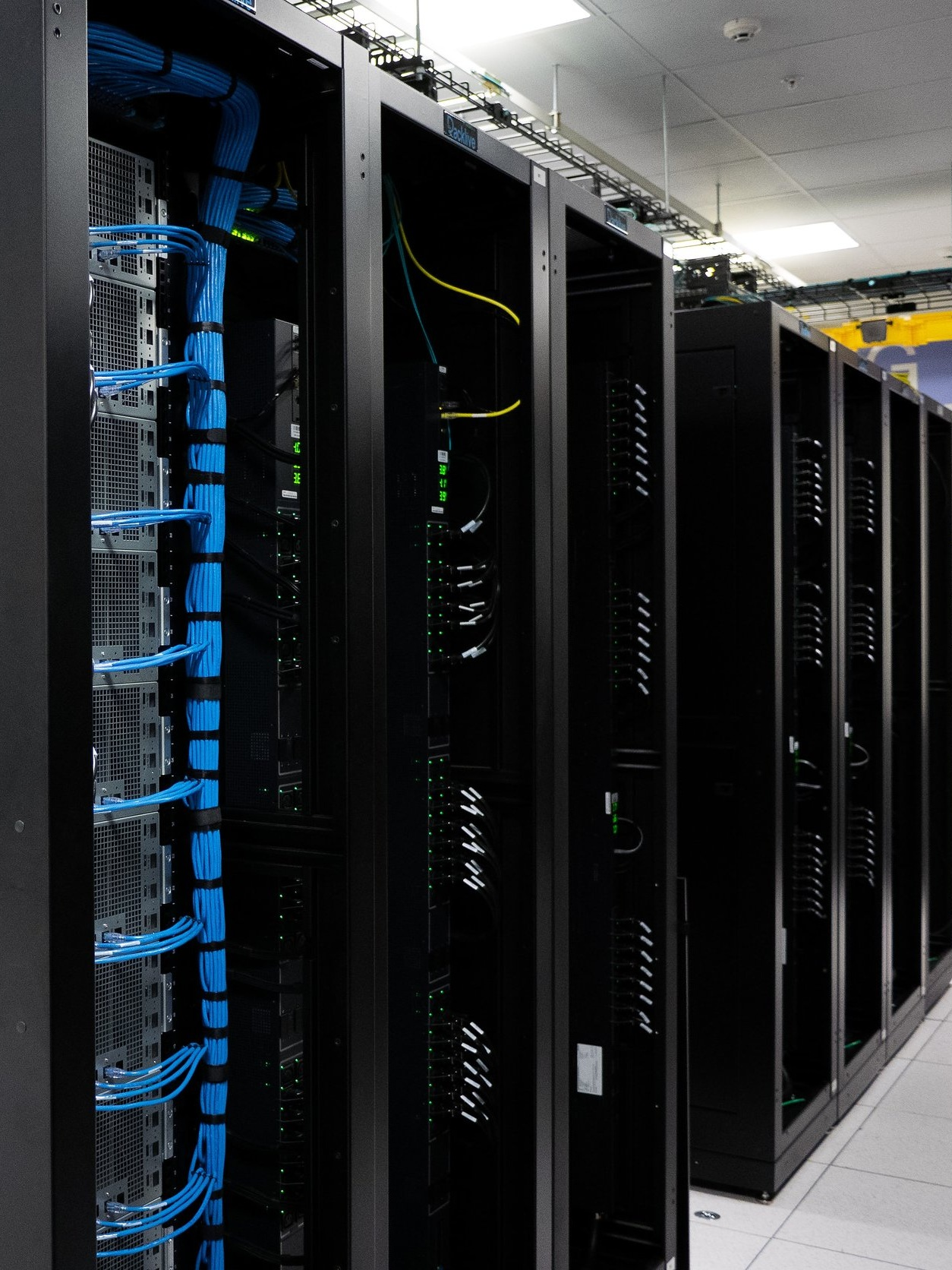 Data centers with reduced power losses