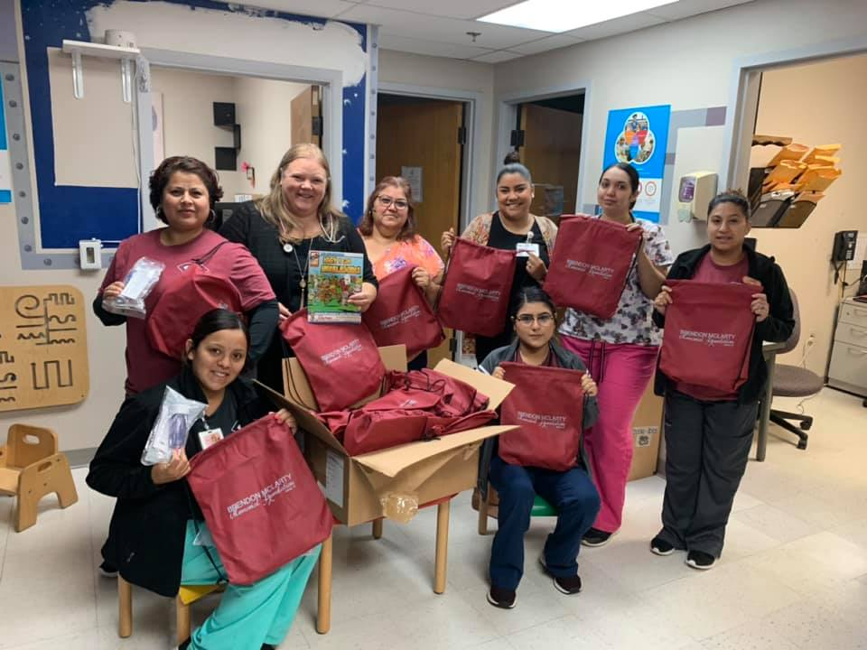 """The Foundation was approached by Dr. Dunlap at OU Children's Latino clinic to assist them with spacers andSpanish asthma material. They were thrilled to receive their asthma """"tool kits"""" for their patients! -"""
