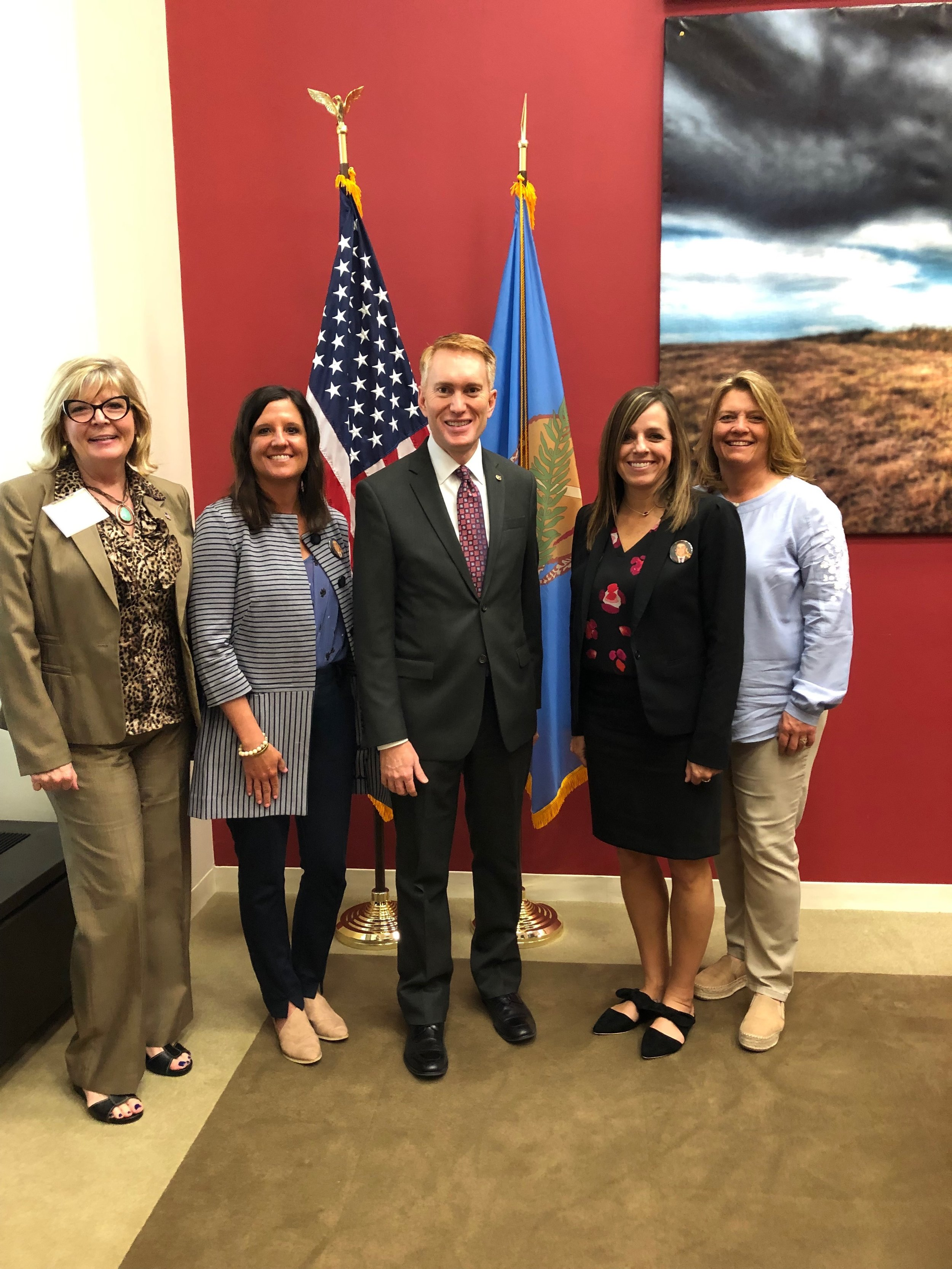 Visiting Senator Lankford while on Capitol Hill