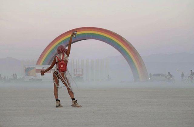 Our contributor Elliss at burning man festival in the black rock desert of Nevada, America.