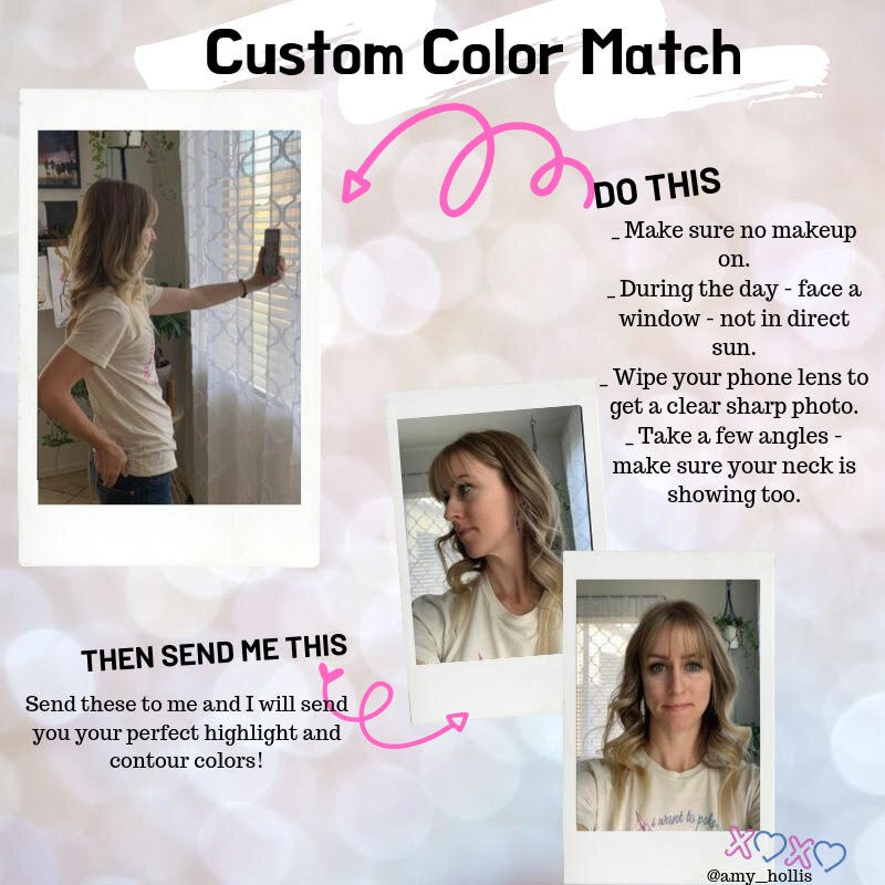 Color Matching . . It's not like going to Target and just guessing what color to buy. Sending a no makeup selfie in natural lighting is the best way to really see your skin tone. -