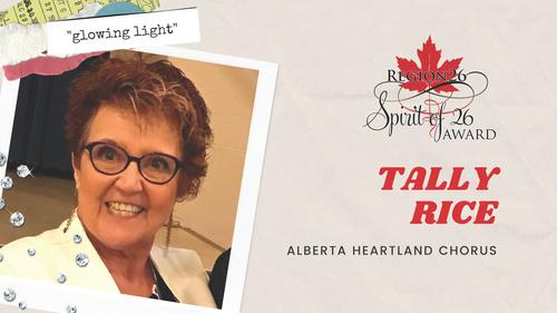 Tally Rice - Alberta Heartland Chorus