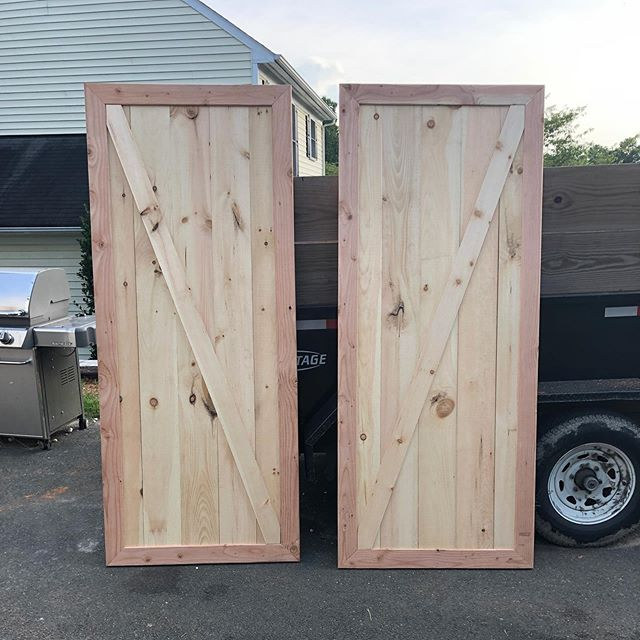 Barn doors ready for stain and install!