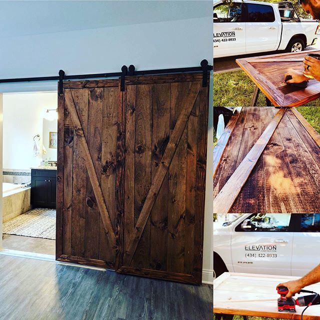 Start to finish update on the barn doors that are completed now.