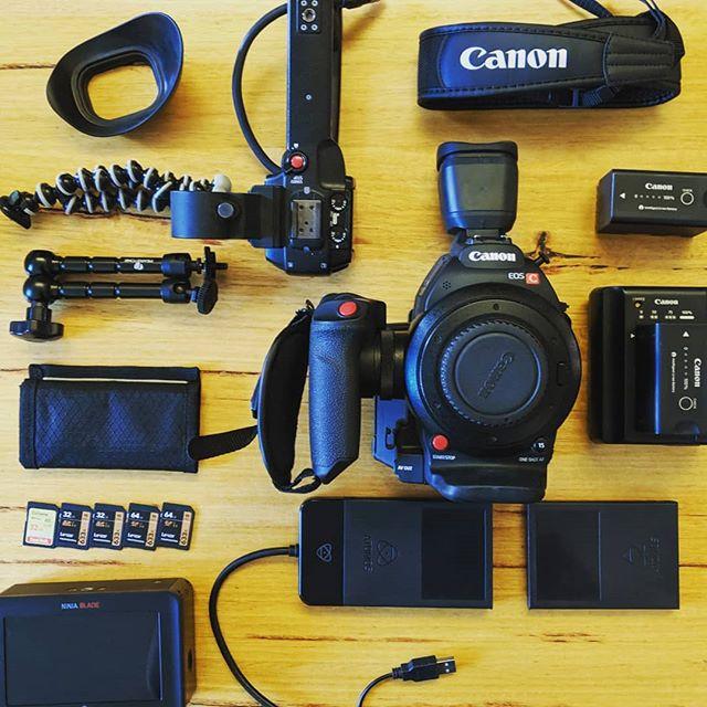 Layflat of our perfect run and gun setup @canonaustralia C100 MK2 @sunstudios