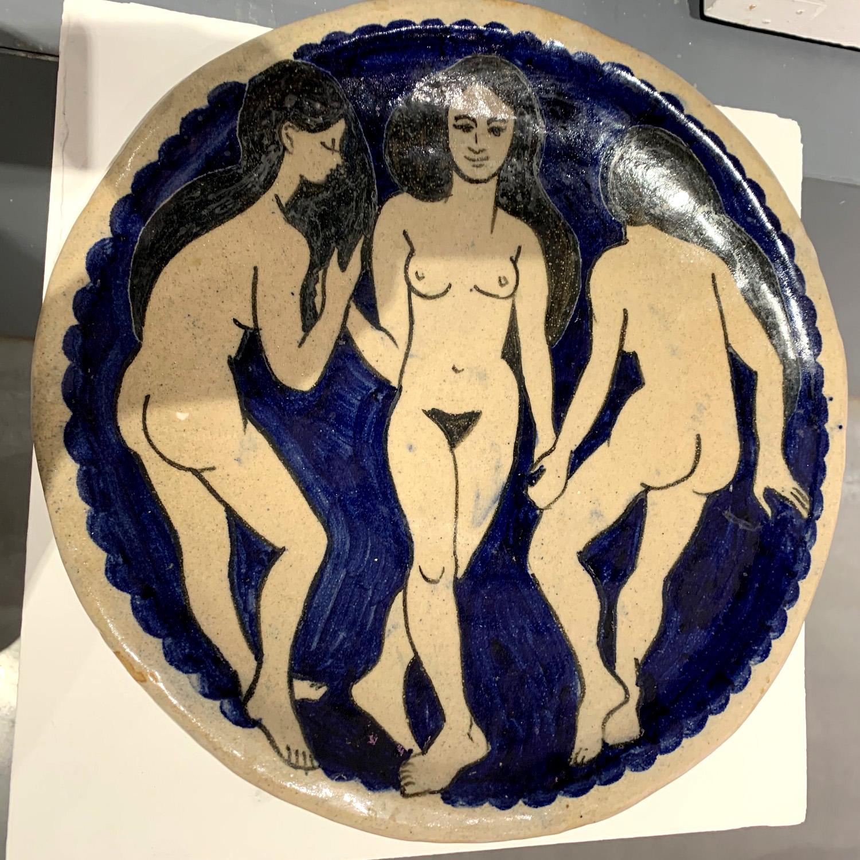 3 Ladies - glazed stoneware by Lucy Rickards