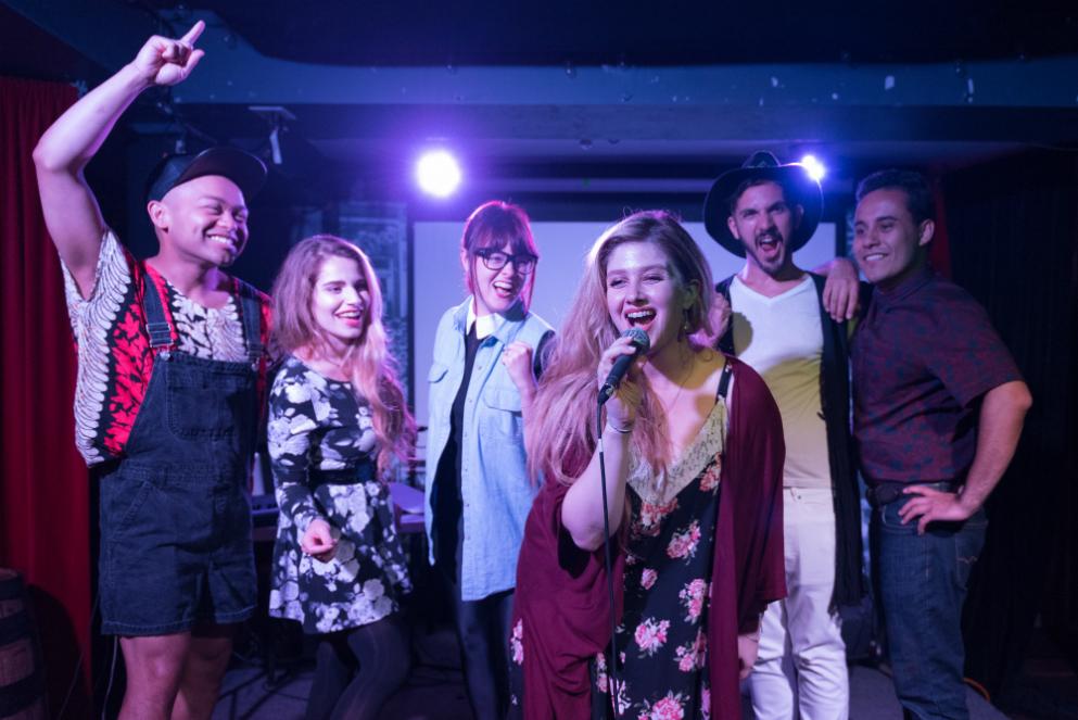2017 Cast at the Monarch Tavern/ photo by Alex Nirta