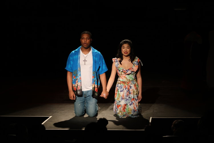 Savion Roach and Joanne Choi in Wexford Collegiate's West Side Story
