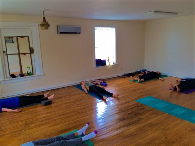 Out of body awareness - Savasana, aka Corpse Pose,We let mind and body go, step beyond boundaries, and find stillness.
