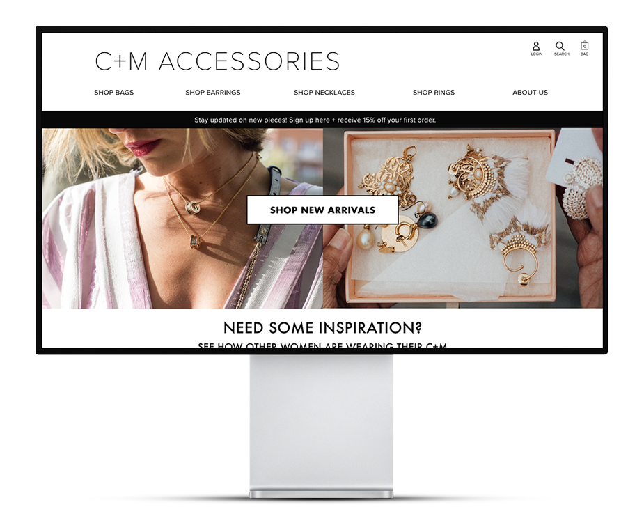 Coco + Mischa E-commerce Site Design - A project to design a website for a product line from the Coco + Mischa brand.